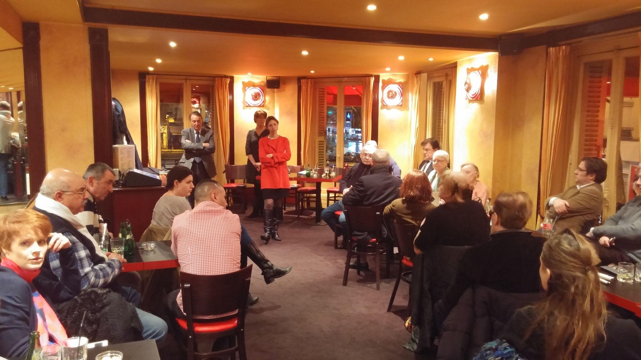 Café politique UMP Clichy avec Camille Bedin