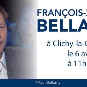 François-Xavier Bellamy à Clichy Le 6 Avril