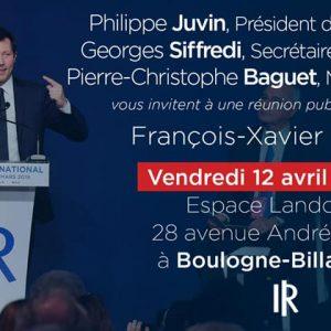 Européennes – Grande Réunion Publique Départementale Autour De François-Xavier Bellamy